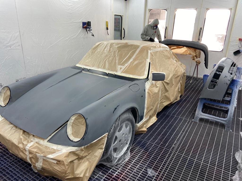 Preparación en cabina de autoarenas